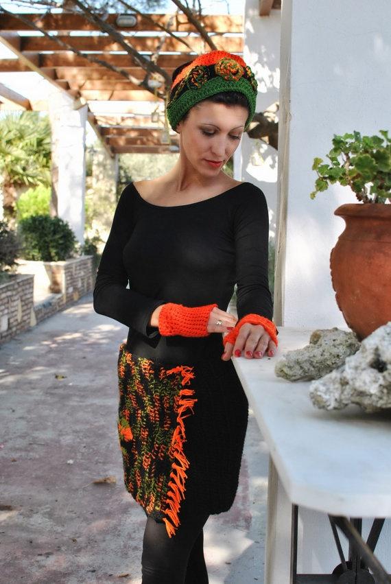 Multicolor Crochet skirt