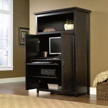 walmart sauder edge water computer armoire estate black 334