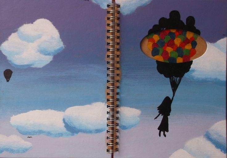 Blue Balloons Scrapbook