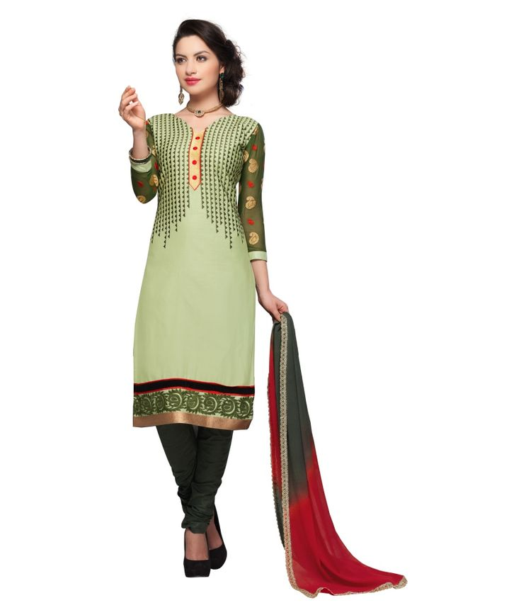 Loved it: Monalisa Fabrics Green Cotton Unstitched Dress Material, http://www.snapdeal.com/product/monalisa-fabrics-green-cotton-embroidered/642764106200