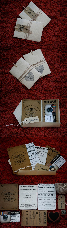Great hand-made wedding invitations!