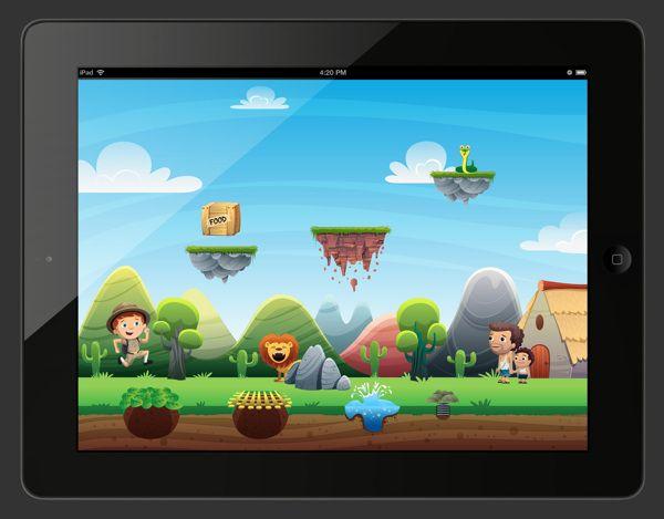 Mockups Ipad Game by Mariano Viglianti, via Behance