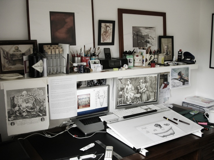 Our show illustrator's studio Favorite Places and Spaces