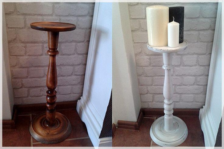 big candlestick, shabby,