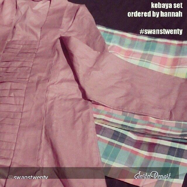 Cotton Kebaya Kutu Baru set for my Malaysian Customer :) thanks for order, hann ^_^   www.swanstwenty.com