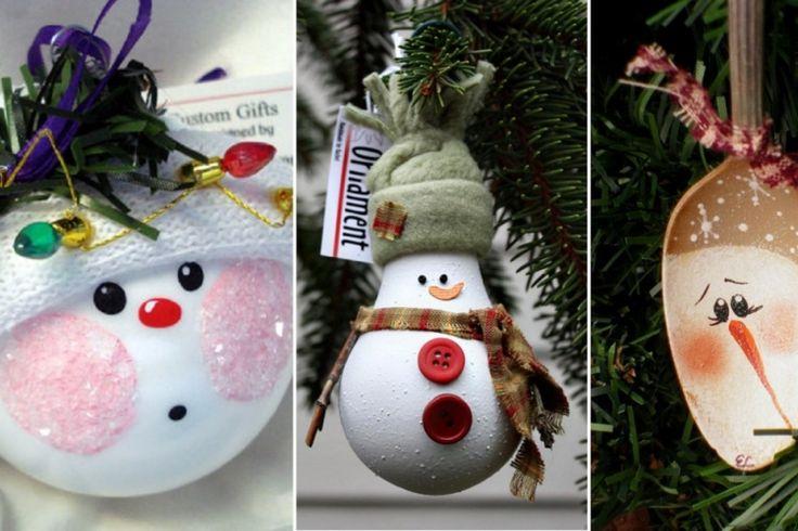 14 bricolages de bonhomme de neige à faire avec des trucs simples à trouver ou à récupérer!