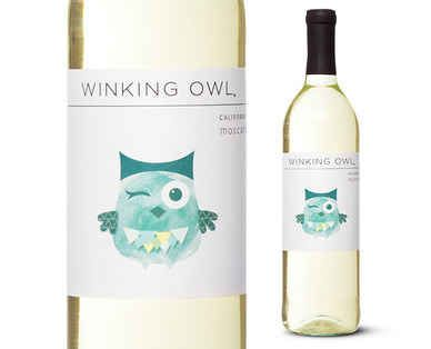 Wines that are cheap but good. | pictured here: Winking Owl Moscato, $3 at Aldi U.S.