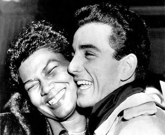 Pearl Mae Bailey was a famous actress and singer and Louie Bellson was a famous jazz drummer, composer and bandleader. Bellson was Duke Ellington's first white musician and met Bailey after being introduced by a trombone player. After a courtship lasting just four days they were married, in London.