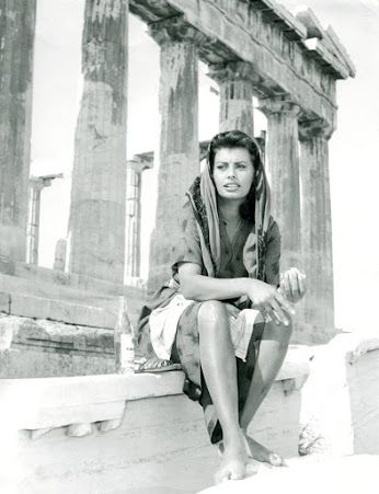 Sofia Loren , Athens, Greece 1956
