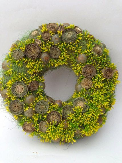 Spring Wreath Summer Wreath Holiday Wreath by CadeauDeLaNature