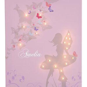 DIY String Light Backlit Canvas Art Ideas Crafts - Light Up Ballerina Canvas