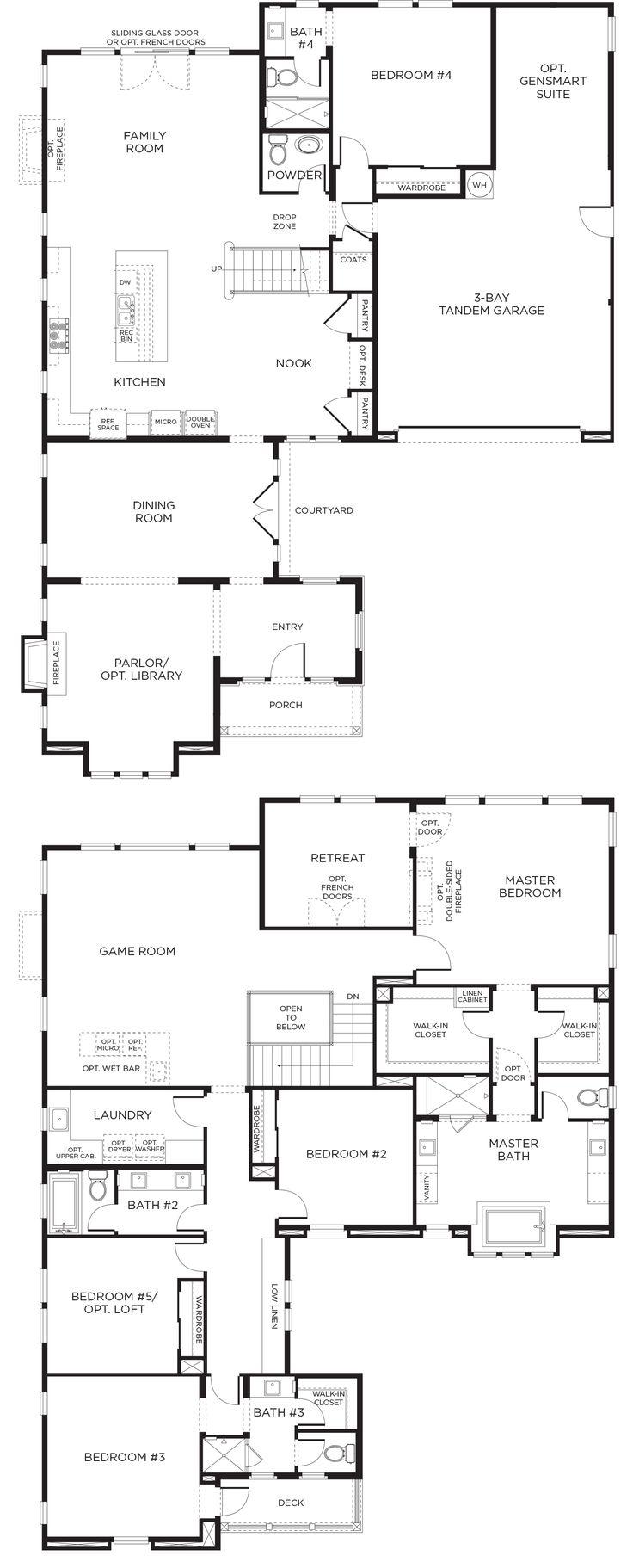 82 best plans images on pinterest house floor plans floor plans watermark plan 3c