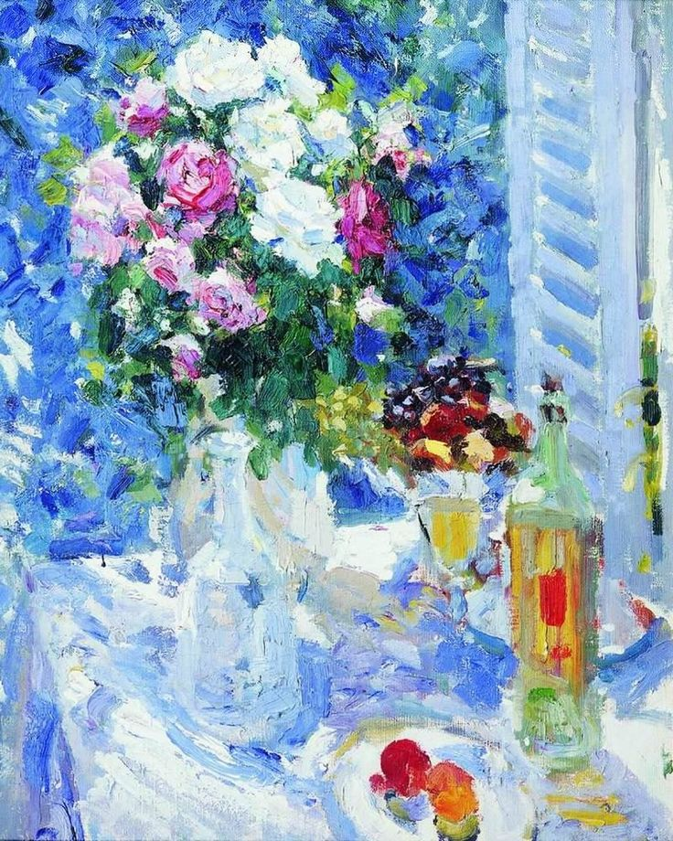 Flowers and fruit. 1911-1912  Konstantin Alekseyevich Korovin-the brightest representative of Russian impressionism.