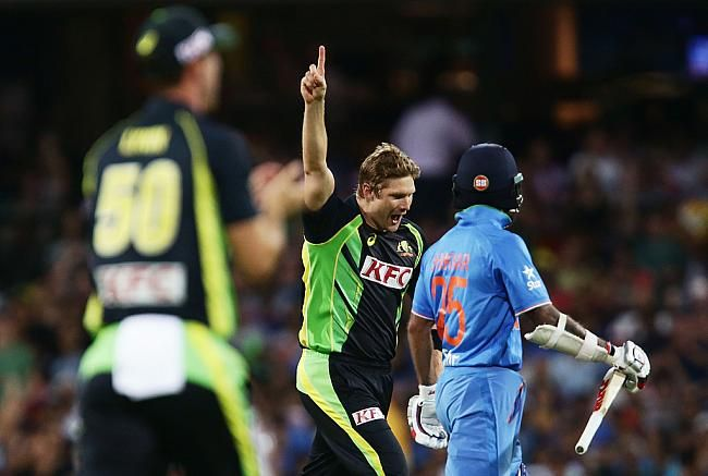Shane Watson, who could do no wrong on Sunday (January 31, struck off his first over, dismissing Shikhar Dhawan