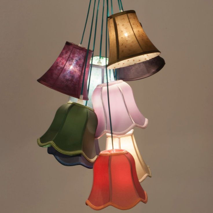 Multicoloured Granny Shade Cluster Pendant Light - Ceiling Lights - Lighting - Home Accessories - Home - TK Maxx