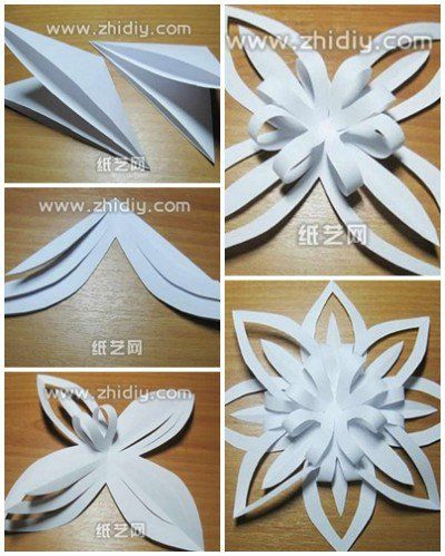 origami snowflake step by step DIY tutorial
