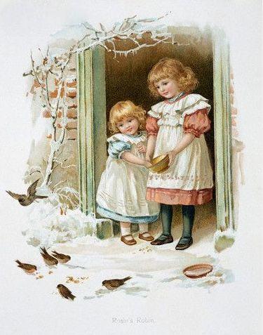 children in winter…