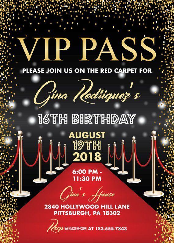 Vip P Hollywood Red Carpet Birthday