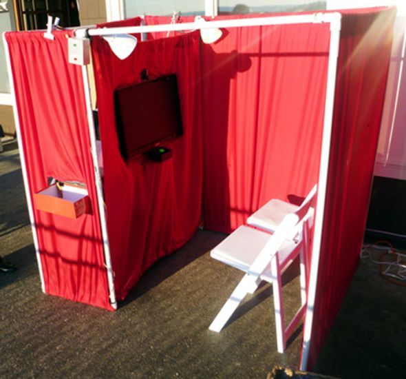 DIY Photobooth with Lighting Control, Talking Characters, and a Breathalyzer :  wedding arduino diy photobooth Photobooth