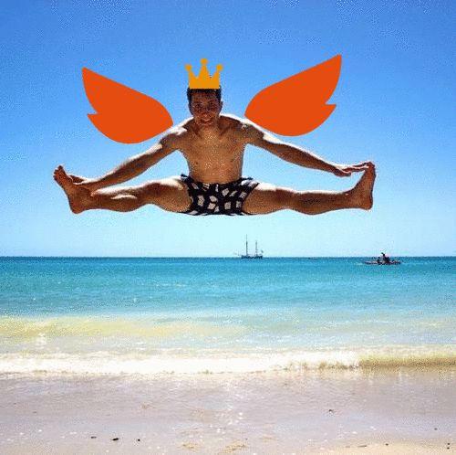 """""""Żeby dostać w życiu skrzydeł jak ja, trzeba zdrowo jeść, uprawiać sport i ubezpieczyć się w ING Życie - proste? TAK!"""" Autor: Adam"""