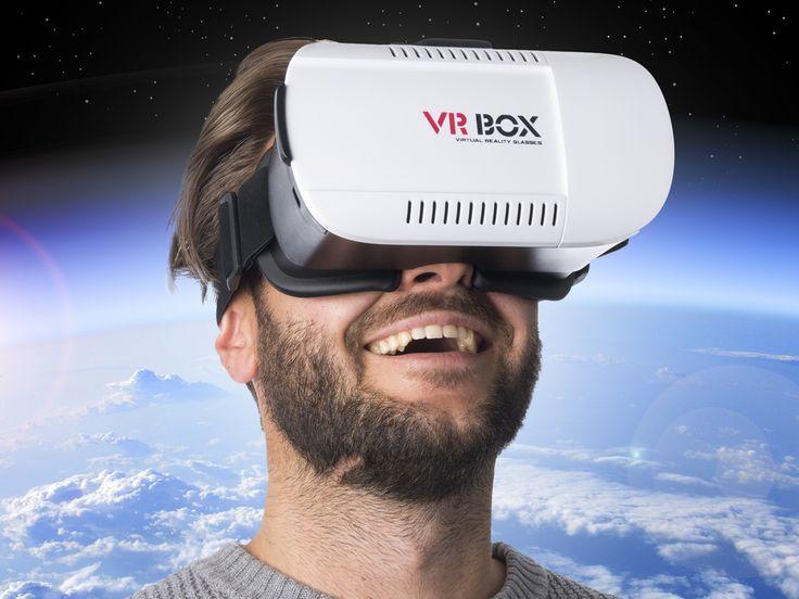 VR Box Headset Med Fjärrkontroll