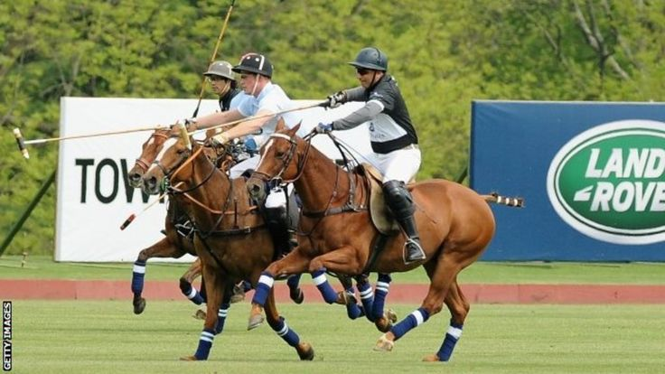 Prince Harry has ended his visit to the US by playing a polo match to raise funds for his charity that helps people affected by HIV and Aids in Lesotho.
