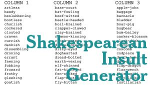 shakespeare-insult-generator