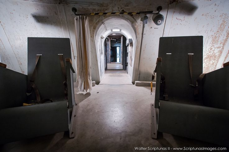 Sitting on a series of large springs and outfitted with 20 chairs with seatbelts, this domed room would have been used to ride out the massive blast of a Saturn V rocket. The room was equipped with a toilet, carbon dioxide scrubbers and other necessary survival gear to keep the occupants safe until help arrived.