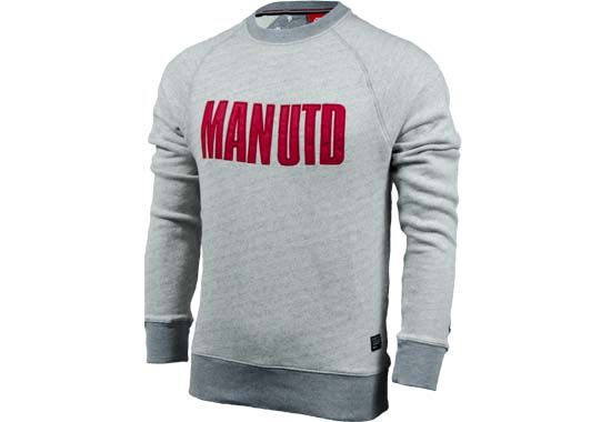 Nike Manchester United Long Sleeve AW77 Covert Crew - Grey Heather...Available at SoccerPro Now!