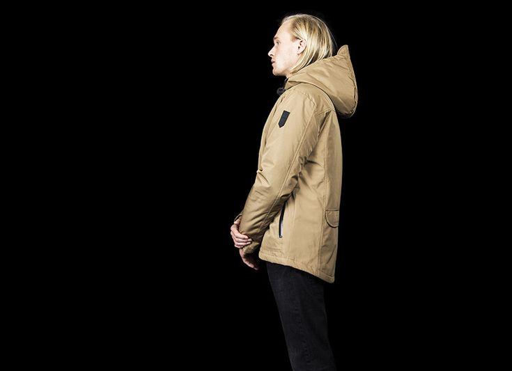 RVLT (Revolution) // béžová zimní bunda (parka) // jacket, parka  #rvlt #jacket #bunda  http://www.urbag.cz/panske-obleceni-od-rvlt-podzim-zima-2014/