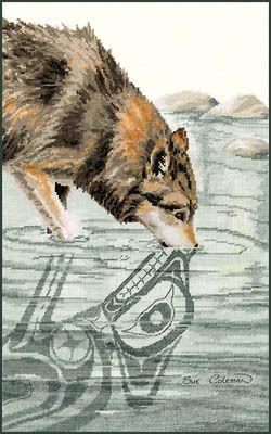 Wolf - Cross Stitch Pattern