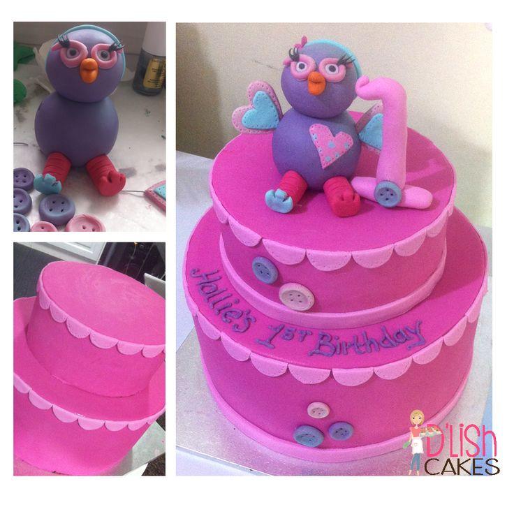 2 Tiered Hootabelle Cake from D'lish Cakes Broadford. www.facebook.com/dlishcakesbroadford  www.dlishcakes.com