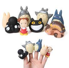 Yeni Sıcak 8 adet/takım TOTORO Action Figure Oyuncaklar Için Ghibli Miyazaki Hayao Anime PVC Parmak Kukla Oyuncak bebek Çocuk Doğum Günü hediyeler(China (Mainland))