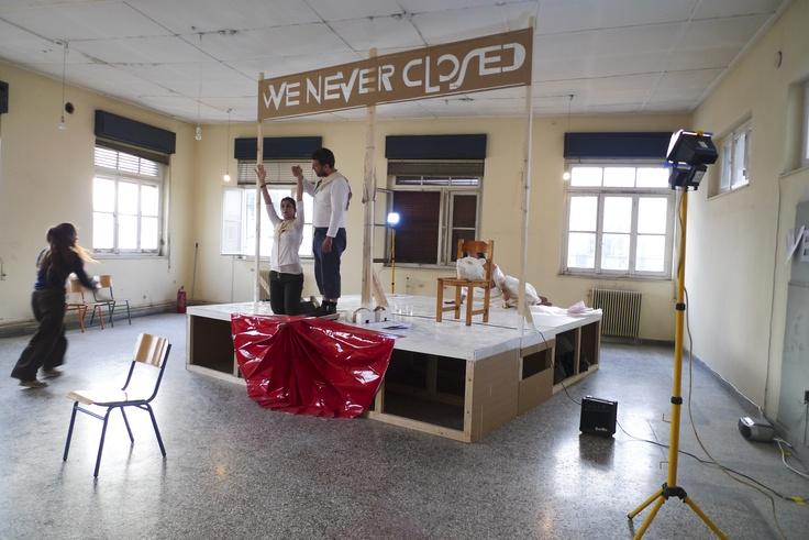 We Never Closed Σειρά από performances Φωτογράφιση Παναγιώτης Λάμπρου