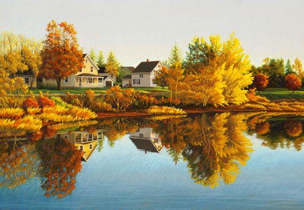 beautiful calm autumn day in Murray Harbour, Prince Edward Island
