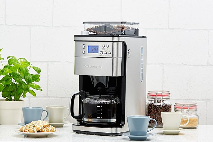 Andrew James Filter Coffee Machine with Integrated Bean Grinder, Strength Control & 24Hr Timer: Amazon.co.uk: Kitchen & Home