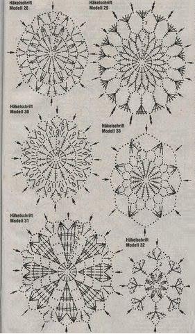 Овальные мотивы крючком для пасхальных яиц