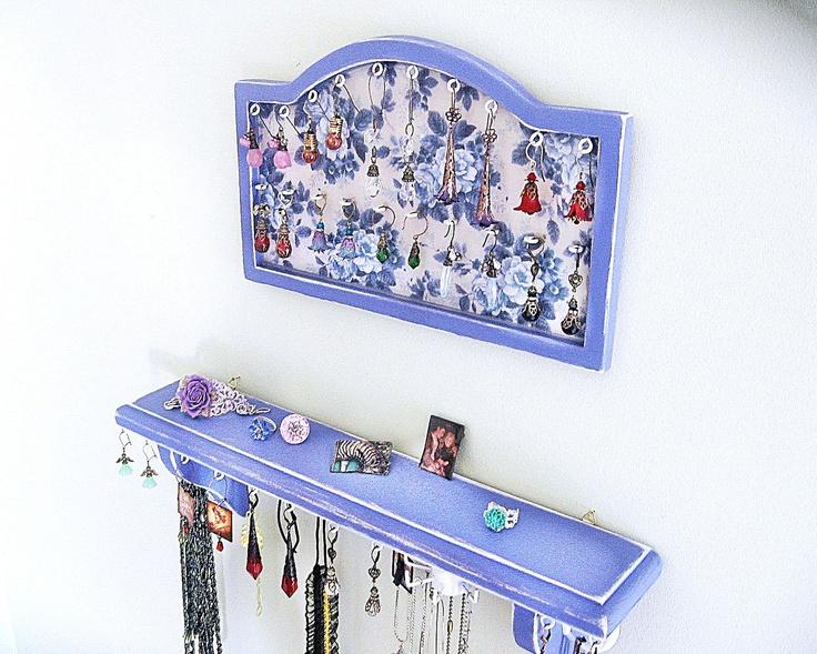 52 best Framed Jewelry Organizer images on Pinterest Craft Good