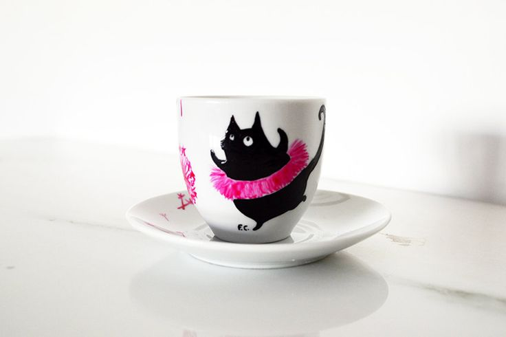 Happy Animals Coffee Cup di HandpaintedAndCo su Etsy