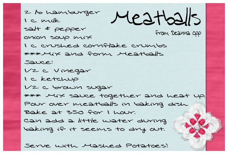Meatballs---best meatballs ever! My family scarfs these down--make ...