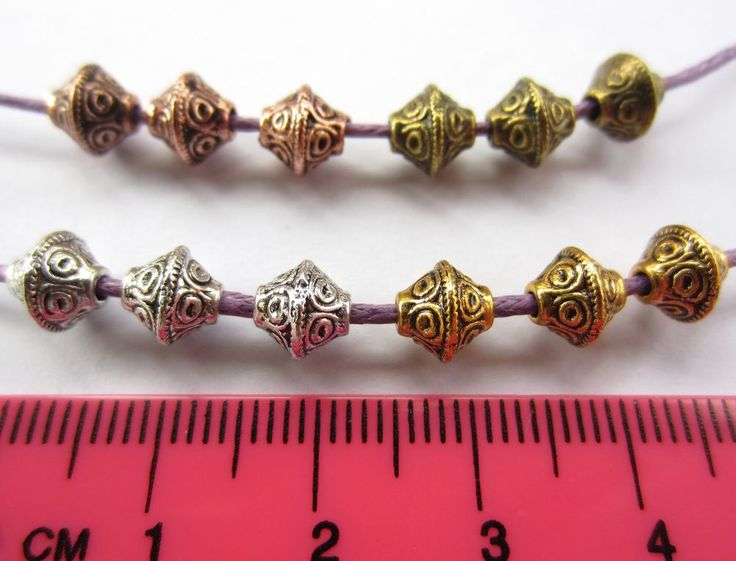 30 x tibetan silver style 6.5mm bicone spacer beads MB5 choose colour