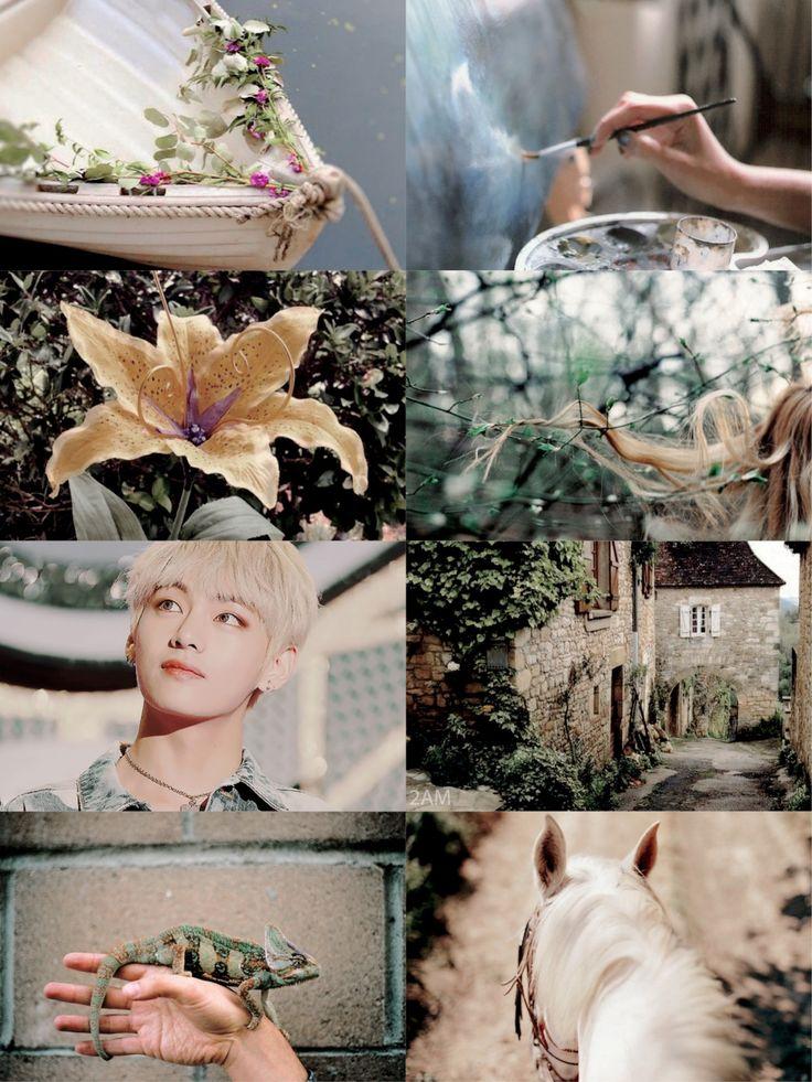 bts au bts as disney princesses taehyung as rapunzel