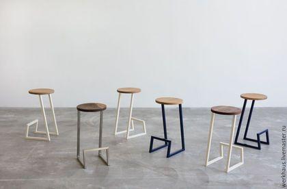Мебель ручной работы. Ярмарка Мастеров - ручная работа. Купить Минималистичный барный стул с круглым сиденьем. Handmade. Стул