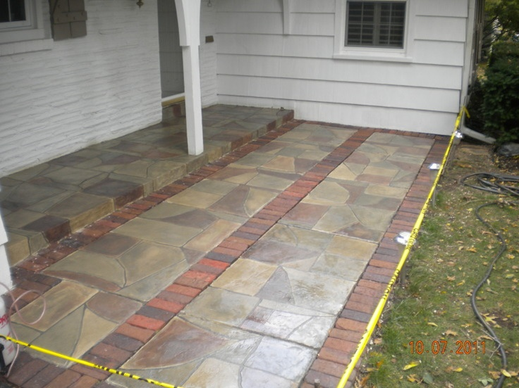 Flagstone Patio   Brick Borders   Kansas City. Repin U0026 Click For More Info  Or · Flagstone PatioConcrete PatiosConcrete OverlayDecorative ...