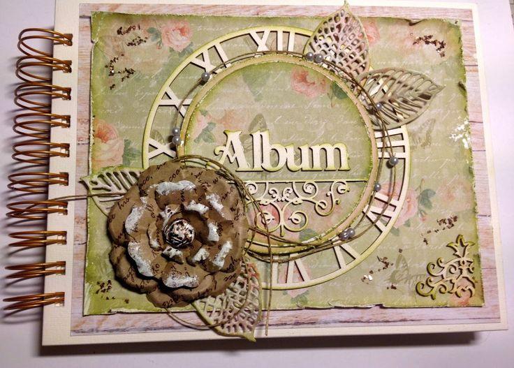 Album laget på kurs med Dorota #scrappmedhjertet