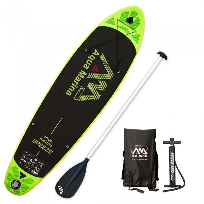 Inflatable Stand-up Paddle Board - Black Green