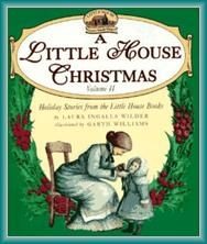 A LITTLE HOUSE CHRISTMAS -- A collection of stories which describe the experiences of a pioneer girl and her family as they celebrate various Christmases In the Big Woods in Wisconsin, on the prairie in Indian Territory, and on the banks of Plum Creek. This book carries the call number : J  F  WILDER.