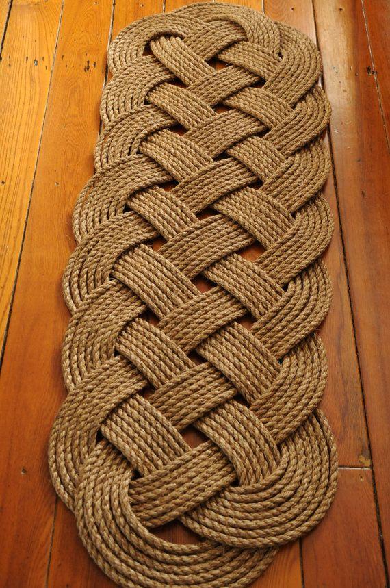Nautical Rope Rug Prolong Manila By Oyknot