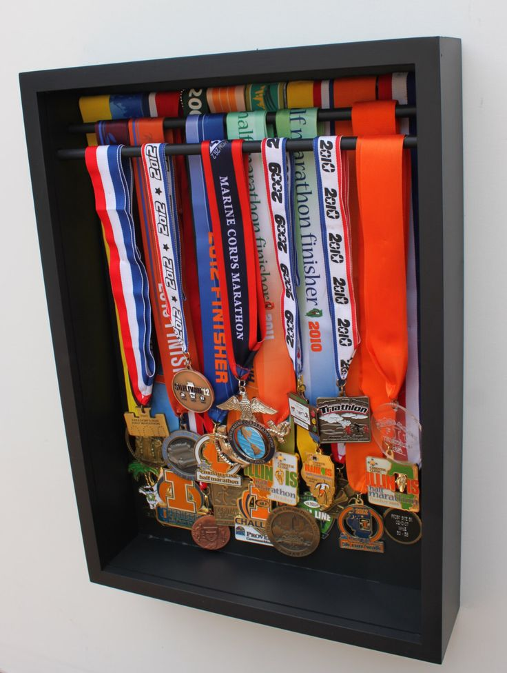 running medal display by medaldisplaybox on Etsy https://www.etsy.com/listing/205995930/running-medal-display