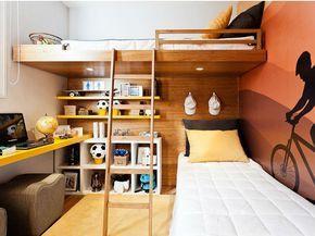 Beliche com escrivaninha: 40 maneiras inteligentes de otimizar quartos pequenos